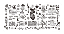Christmas Stamping Plate - Design 02