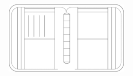 Succes Omslag Standard 20 mm Cadiz / Stitch Bruin (PT243CH01)