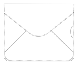 Succes iPad Hoes Envelop Firenze Zwart (AZ872FI02)
