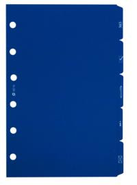 Succes A5/Executive 5 Tabbladen, Synthetisch, Blauw (XE16)