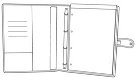 Succes Schrijfmap A4 Luxe Cadiz Zwart (PB148CI02)