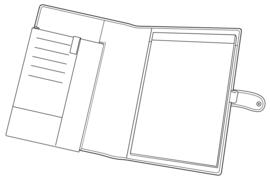 Succes Schrijfmap A4 iPad Cadiz Bruin (PB066CI01)