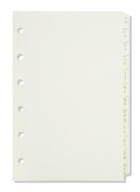 Succes Mini Tabkaarten Alfabet, Papier, 12Delig, Crème (XM140)