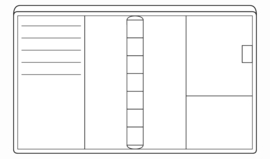 Succes Omslag Mini 10 mm Nappa Zwart (PM117N02)