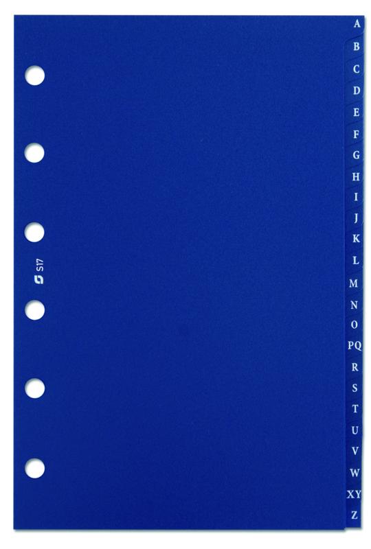 Succes Senior Alfabet Syntetisch, 24-Delig, Blauw (XS17)