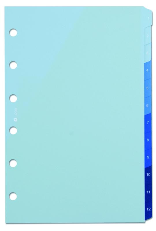 Succes Senior Tabkaarten, Syntetisch, 1 T/M 12, Blauw (XS200)