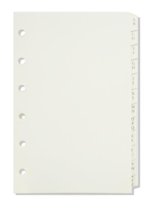Succes Senior Tabkaarten Alfabet, Papier, 12Delig, Crème (XS140)