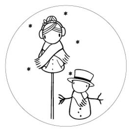 Sticker Irmadammekes Sneeuwpop