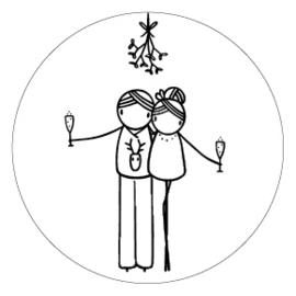 Sticker Irmadammekes Mistletoe