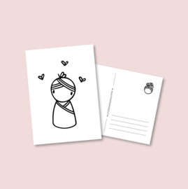 Postkaart - Babymeisje