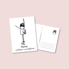 Postkaart Zwemdiploma meisje