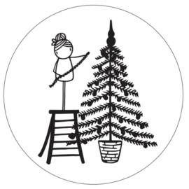 Sticker Irmadammekes Kerstboom