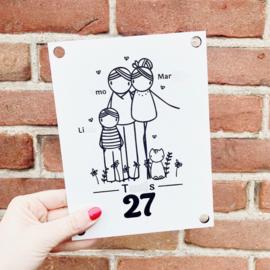 Huisnummerbord met huisnummer