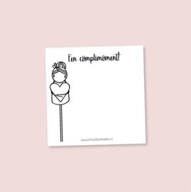 Complimentenblokje 'Een complimoment!'