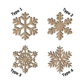 Sneeuwvlokken set van 4 stuks