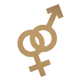 MDF man&vrouw symbool