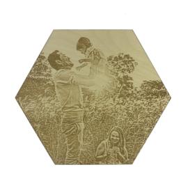 Hexagon met eigen foto