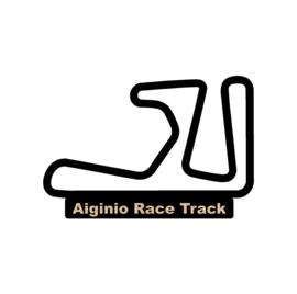 Aiginio race track op voet