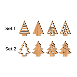 Kerstbomen set van 4 stuks
