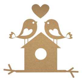 MDF vogelhuisje