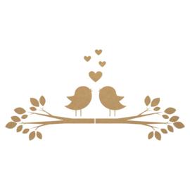 MDF tak met vogels 2