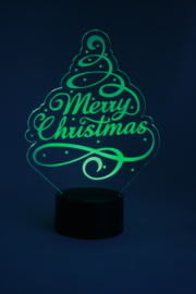 Kerstboom merry christmas ledlamp