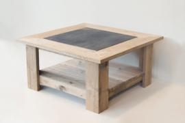 Steigerhouten salontafel met natuursteen