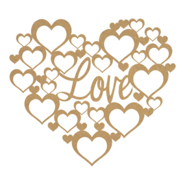 MDF hart love