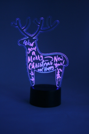 Rendier merry christmas led lamp