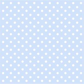 Blauw met witte stippen