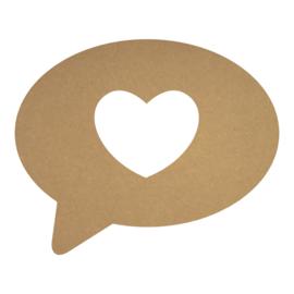 MDF tekst ballon hart
