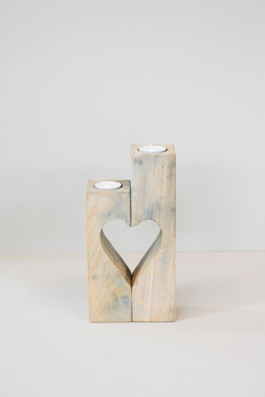 Waxinelichthouder met hart