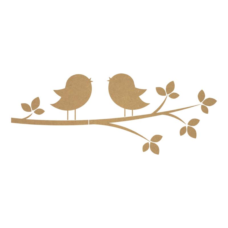 MDF tak met vogels 1