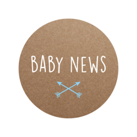 Sluitzegel baby news jongen