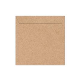 Envelop kraftpapier | 14 x 14 cm
