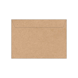 Envelop kraftpapier | 11,4 x 16,2 of 15,6 x 22 cm