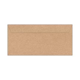 Envelop kraftpapier | 11 x 22 cm