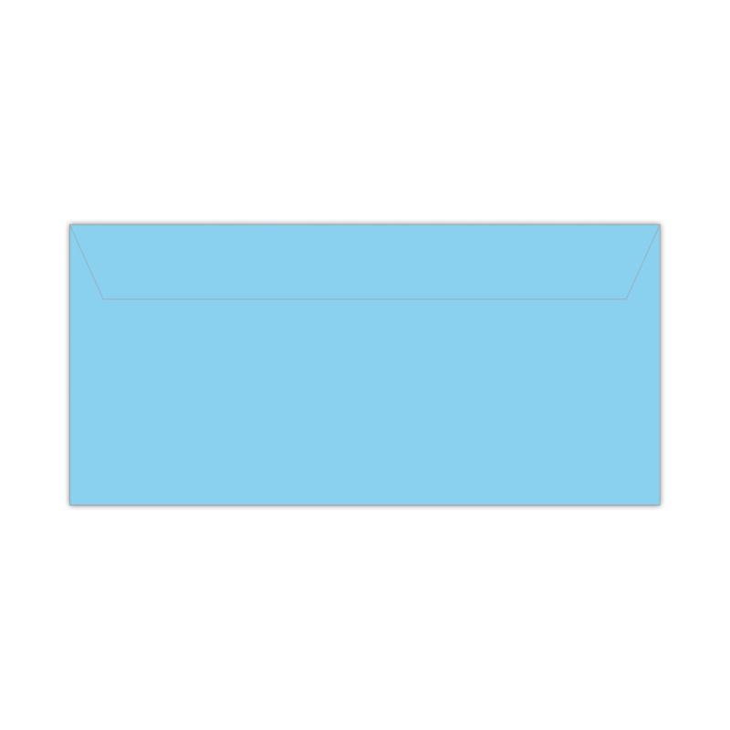 Envelop babyblauw   11 x 22 cm