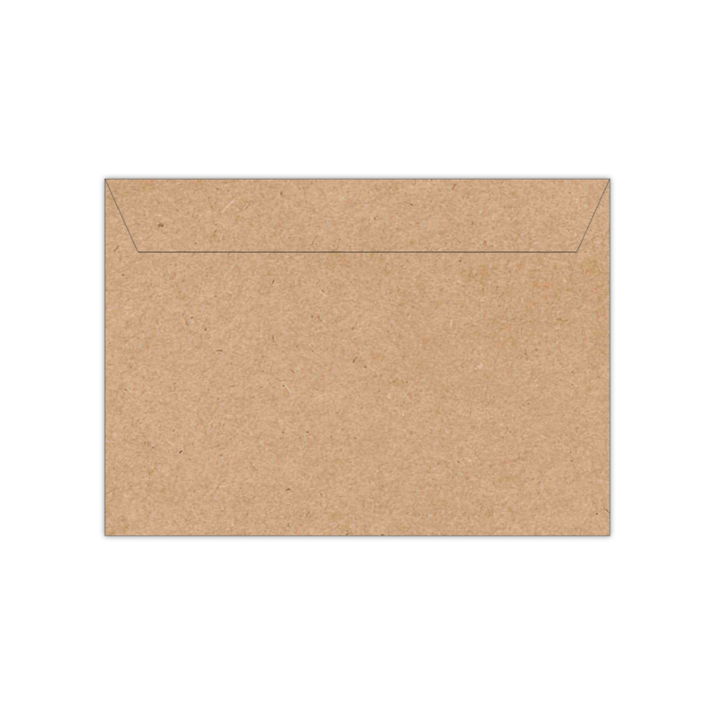 Envelop kraftpapier   11,4 x 16,2 of 15,6 x 22 cm