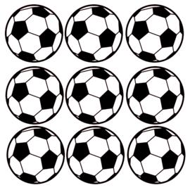 9 x voetballen 9 x 9 cm