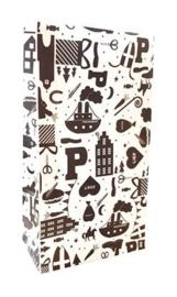 Giftbag sinterklaas Hop Hop Hop 14+8x26cm
