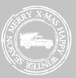 kerststicker stempel truck