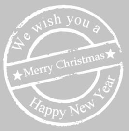 kerststicker we wish you...
