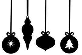 herbruikbare raamstickers kerstballen