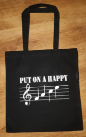 Muziek tas 'Put on a Happy face""