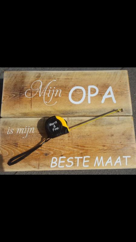 Verwonderend Steigerhout bord opa / papa is mijn beste maat | Houten (tekst QC-18
