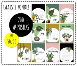 Partij van 200  Christelijke posters A4 formaat
