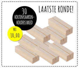 Partij van 30 houten kaarten houders breed
