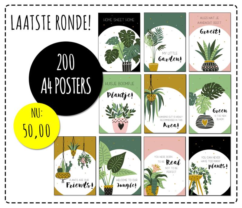 Partij van 200 posters A4 formaat