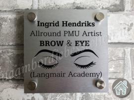 Bedrijfs naambordje PMU artist